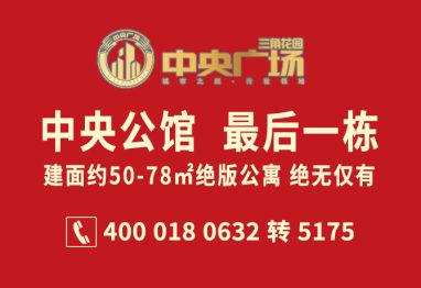 枣房网电商团购中央广场50-78㎡绝版公寓