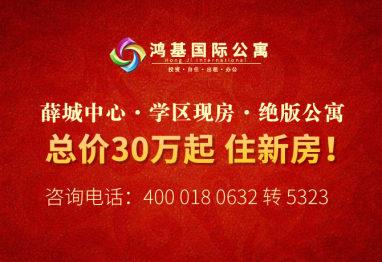 枣房网电商团购鸿基国际 薛城中心 学区现房 总价30万起!