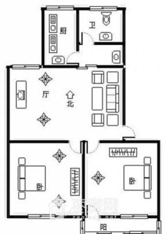 永福新村,首付10万,三楼两室