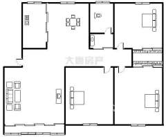 首付14万 国泰花园 高层送阁楼 三室两厅143平 中等装修