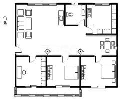 (市中)华南花园3室2厅1卫115m²豪华装修
