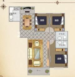 (薛城)方正园3室2厅2卫161.72m²毛坯房