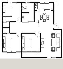 (新城)紫光园3室2厅118m²豪华装修 包更名 楼王位置