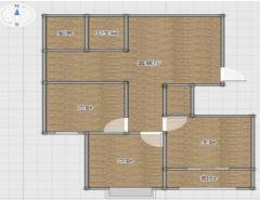 (新城)中央花城3室2厅2卫126m²简单装修