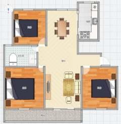(新城)鸿鑫·俊景3室2厅1卫125.72m²毛坯房