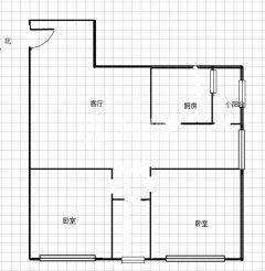 翰景名座:2室2厅1卫100.35m²豪华装修