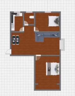 (新城)兴安花园2室2厅1卫90.48m²简单装修