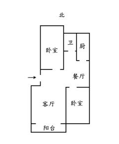 2室2厅1卫90m²豪华装修