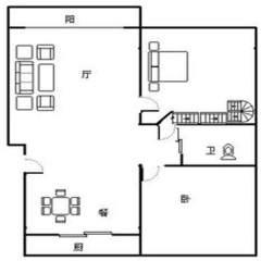 (市中)锦龙国际花园2室2厅1卫150m²简单装修