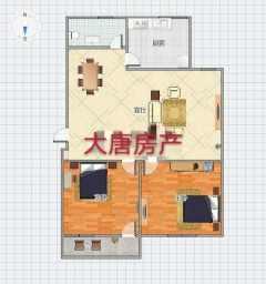 (市中)文化三村2室1厅1卫55m²简单装修